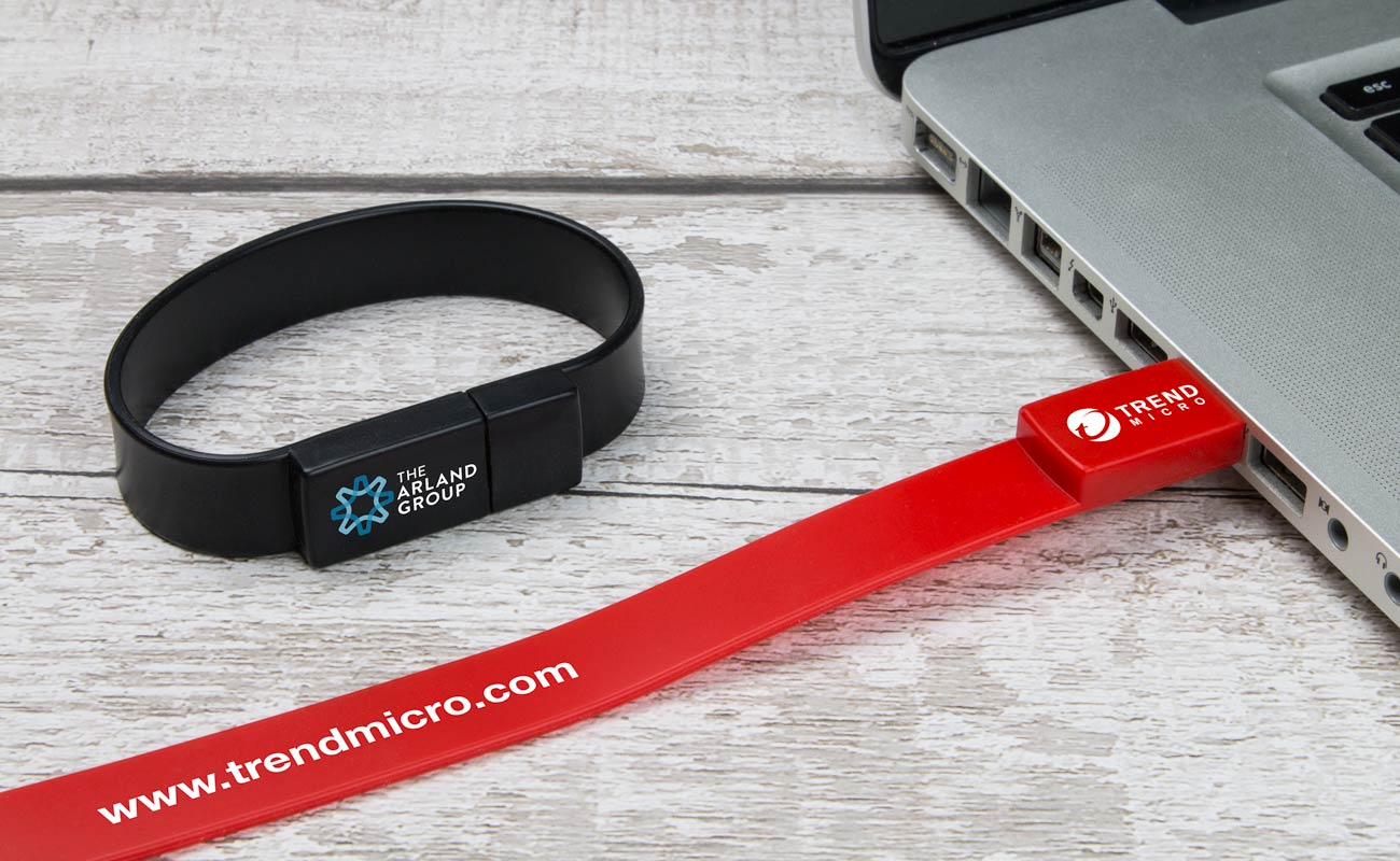 Lizzard - Branded USB Wristbands
