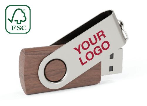Twister Wood - Wooden USB Drive